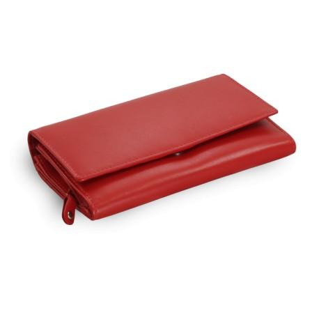 Červená dámská kožená psaníčková peněženka Presley