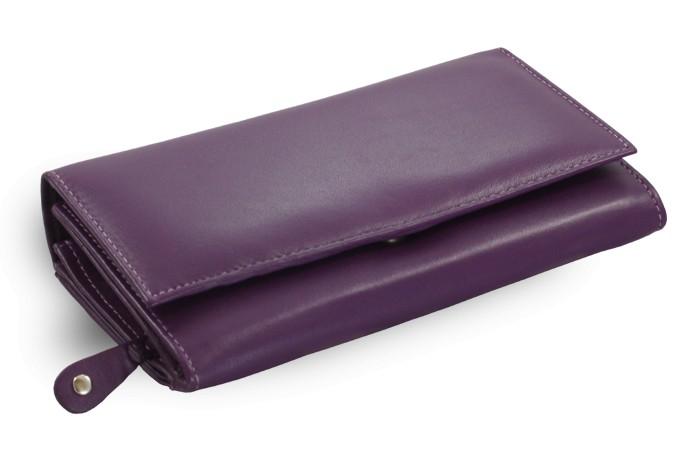 Fialová dámská kožená psaníčková peněženka Tessa