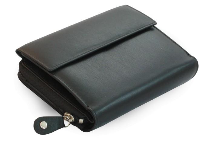 Černá dámská kožená peněženka Sawyer