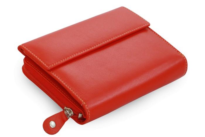 Červená dámská kožená peněženka Evangeline