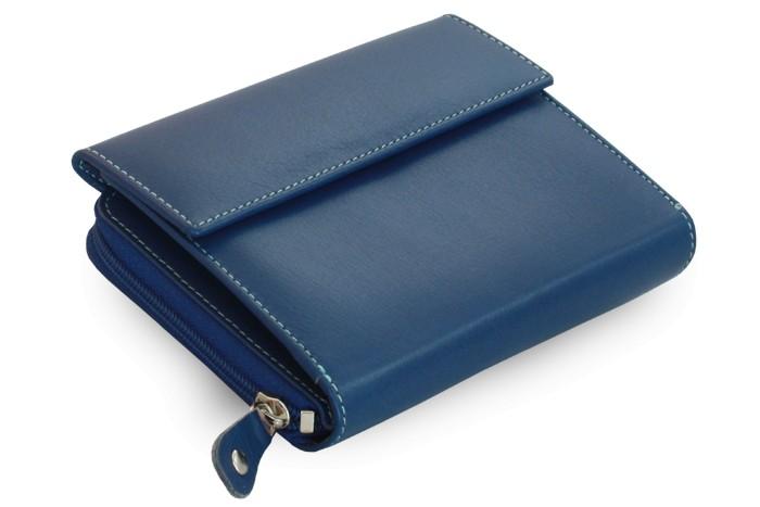 Modrá dámská kožená peněženka Jordan