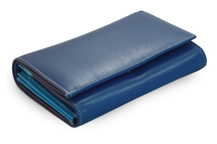 Modrá dámská kožená peněženka Sienna