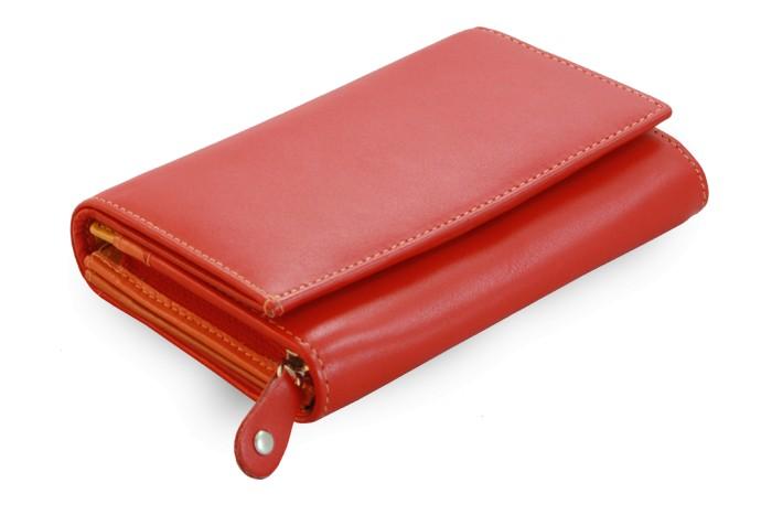 Červená dámská kožená peněženka Hope