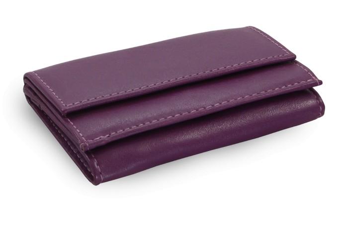 Fialová dámská kožená mini peněženka Raegan