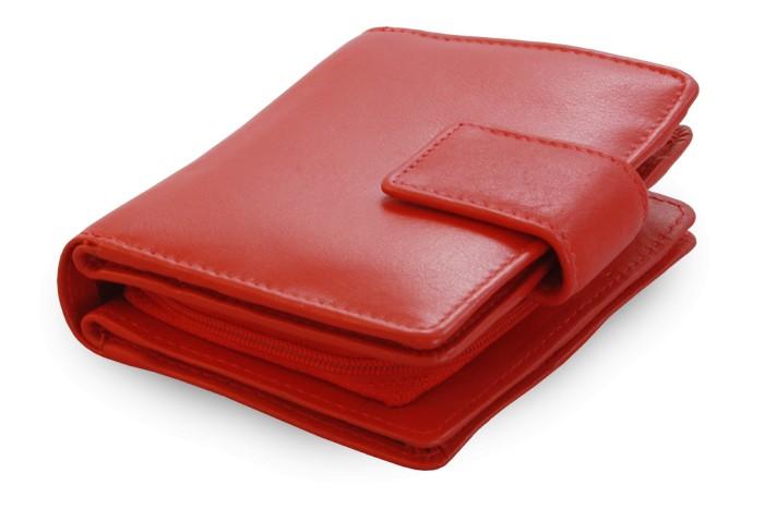 Červená dámská kožená peněženka Makenzie