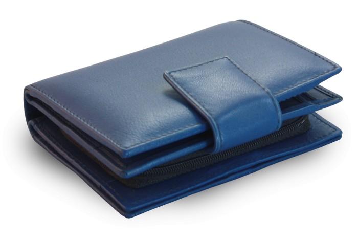 Modrá dámská kožená peněženka Amaya