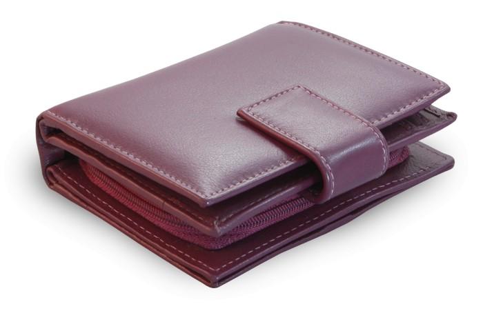 Fialová dámská kožená peněženka Alivia