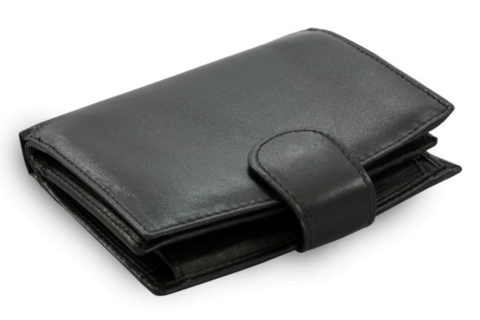 Černá dámská kožená peněženka Evangeline