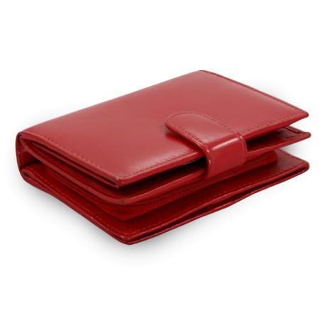 Červená dámská kožená peněženka Adriana