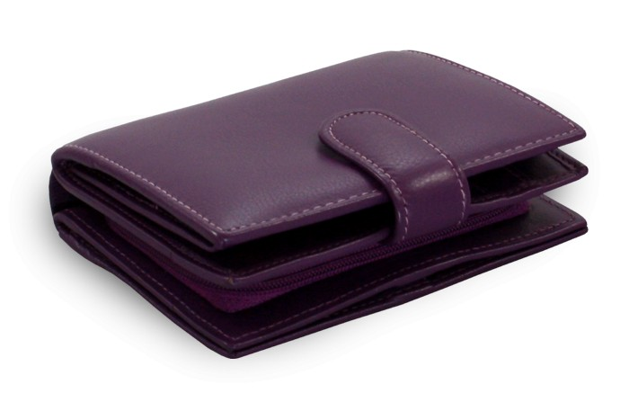 Fialová dámská kožená peněženka Summer