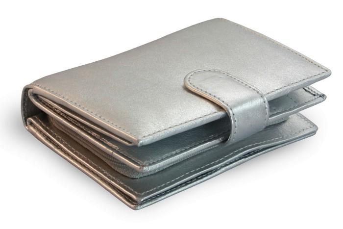 Stříbná dámská kožená peněženka Rosalie
