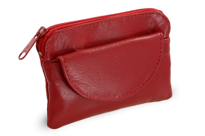 Červená kožená klíčenka Vanesa