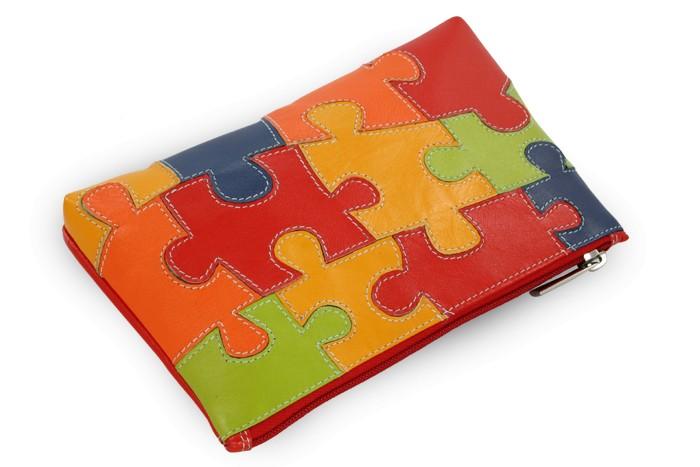 Motiv puzzle kožená etue Adelynn