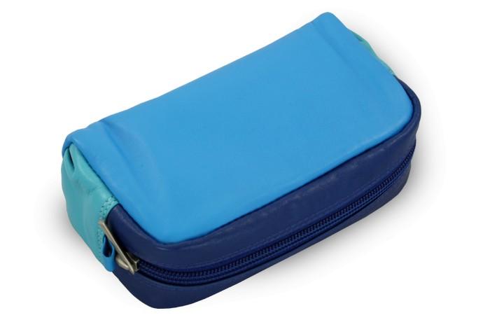 Barevně modrá dámská kožená etue Keira