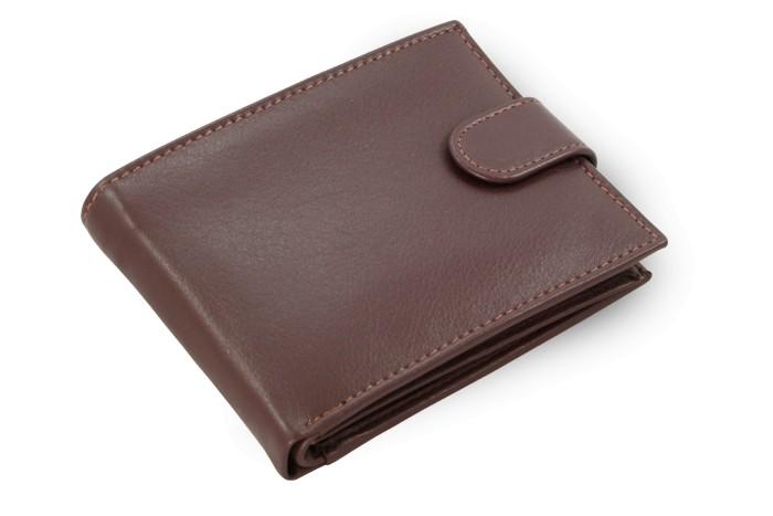 Tmavě hnědá pánská kožená peněženka Thomas