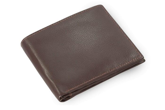 Tmavě hnědá pánská kožená peněženka Marien