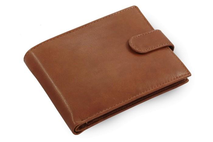 Tmavě hnědá pánská kožená peněženka Collin