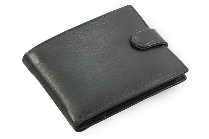 Černá pánská kožená peněženka Bradley