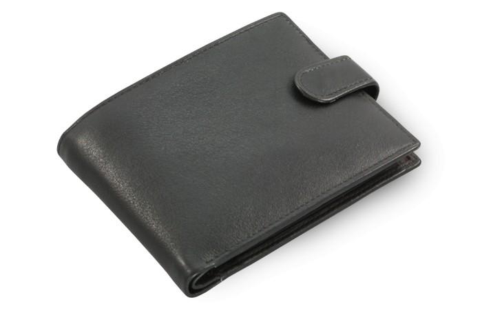 Černá pánská kožená peněženka Nicolas