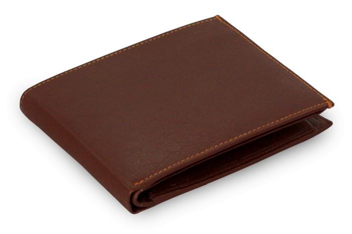 Tmavě hnědá pánská kožená peněženka Adolfo