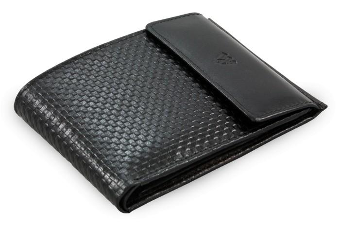 Černá kožená pánská peněženka Alexia