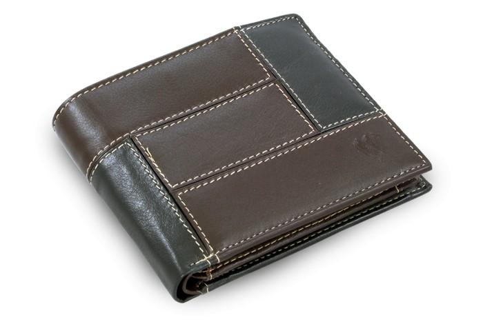 Černo hnědá pánská kožená peněženka Trevor