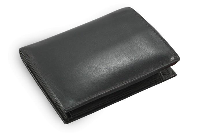 Černá pánská kožená peněženka Hudson