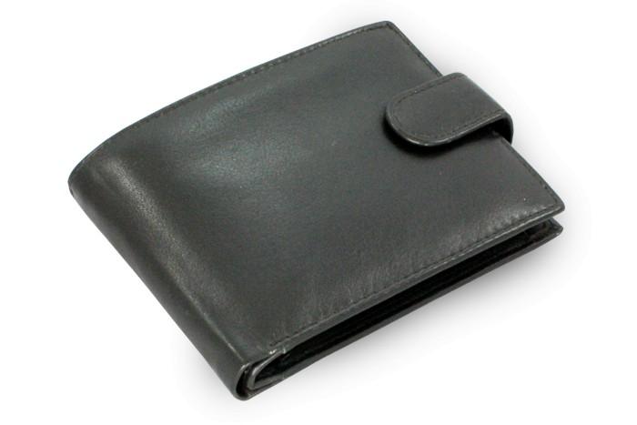Černá pánská kožená peněženka Bulpen