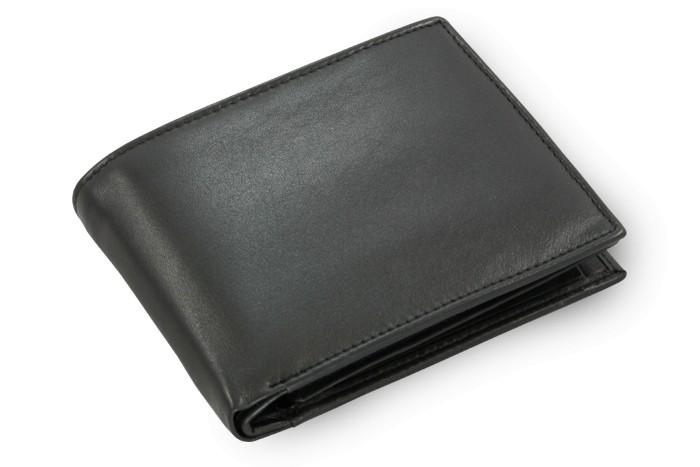 Černá pánská kožená peněženka Kaleb