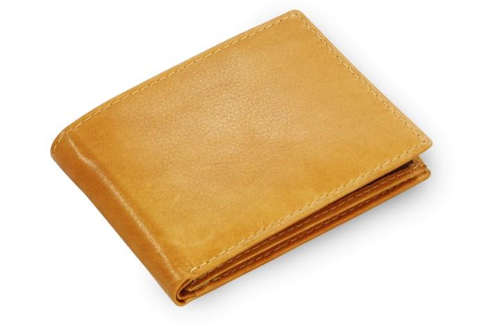 Světle hnědá pánská kožená peněženka Luca