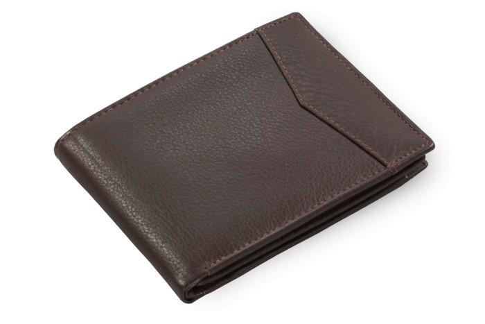 Tmavě hnědá pánská kožená peněženka Eric