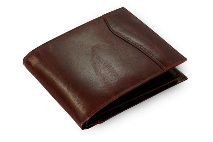Tmavě hnědá pánská kožená peněženka Kevin