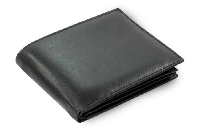 Černá pánská kožená peněženka Agapito