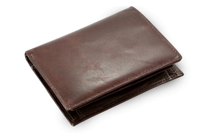 Tmavě hnědá pánská kožená peněženka a dokladovka Kaden