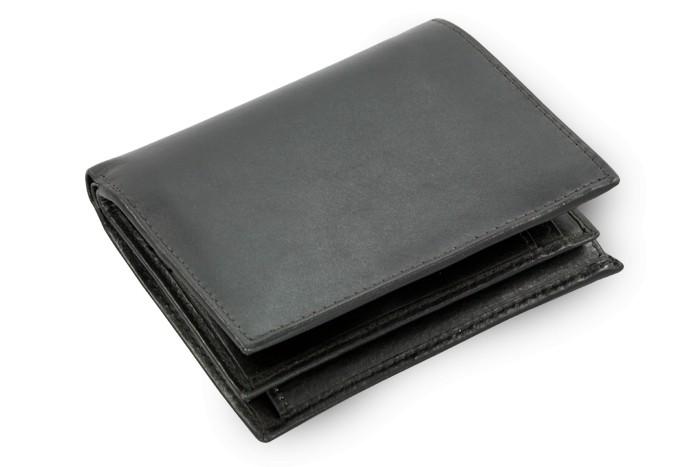 Černá pánská kožená peněženka Iseale
