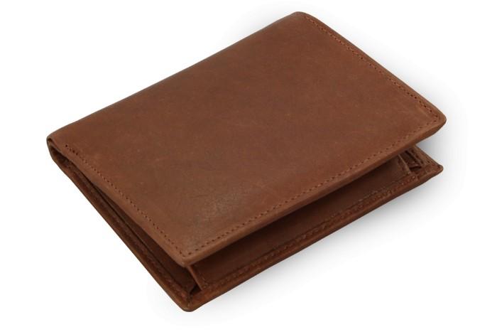 Tmavě hnědá pánská kožená peněženka Timothy