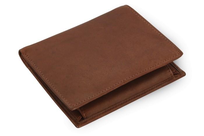 Tmavě hnědá pánská kožená peněženka Bryce