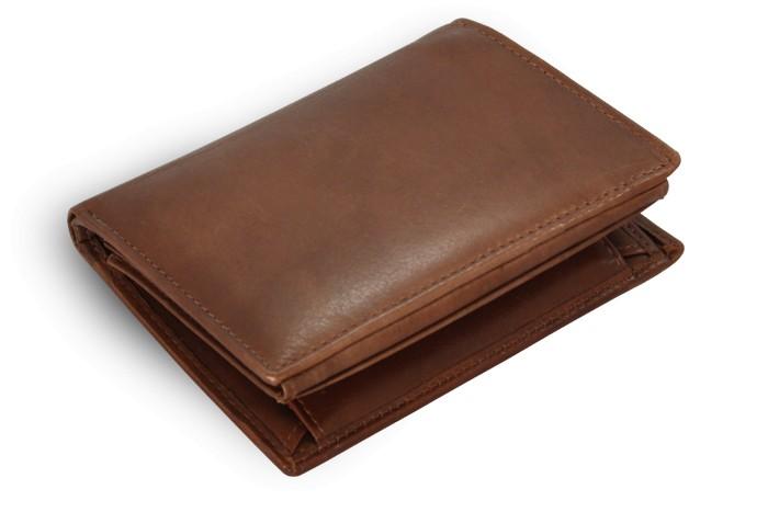 Tmavě hnědá pánská kožená peněženka Wesley