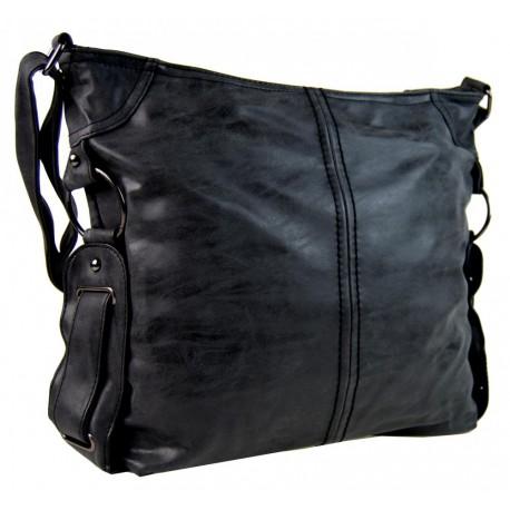 Černá středně velká crossbody kabelka Zintien