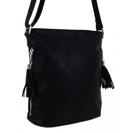 Černá crossbody kabelka s bočními zipy Filiens