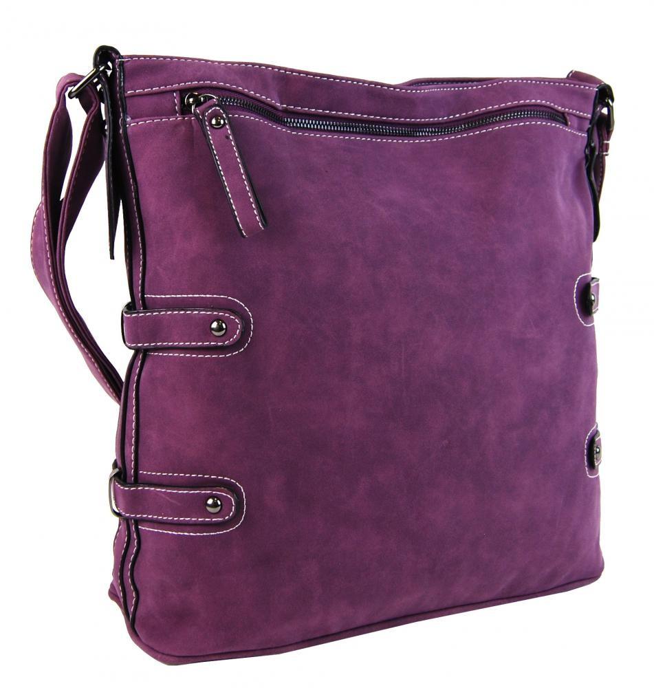 Fialová středně velká crossbody kabelka Violetten