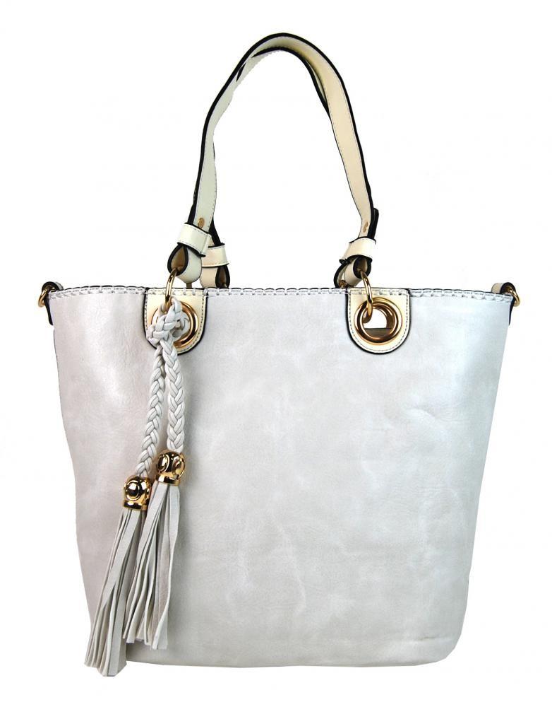 Béžová elegantní kabelka přes rameno se zlatými doplňky Sheriel