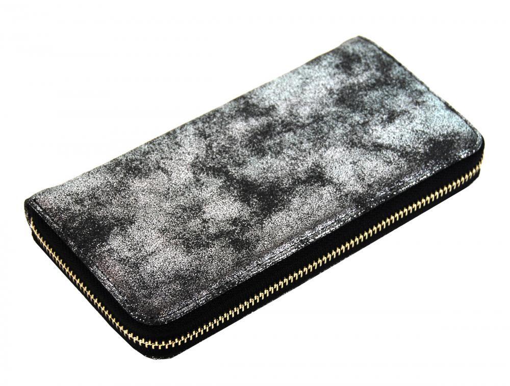 Černá dámská peněženka se stříbrnou patinou Dundai