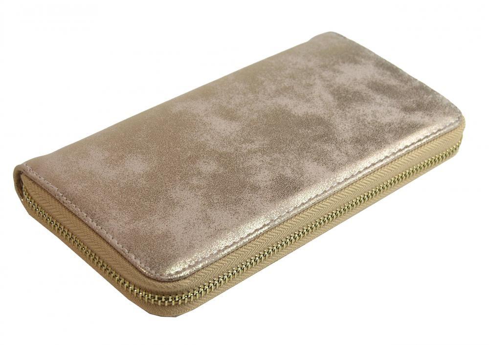 Zlatá dámská peněženka s patinou Dundai