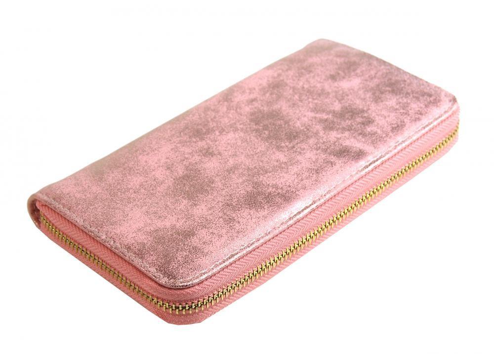 Růžová dámská peněženka s patinou Dundai