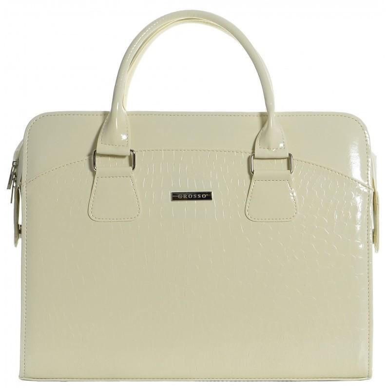 Béžová dámská luxusní taška na notebook Kajam