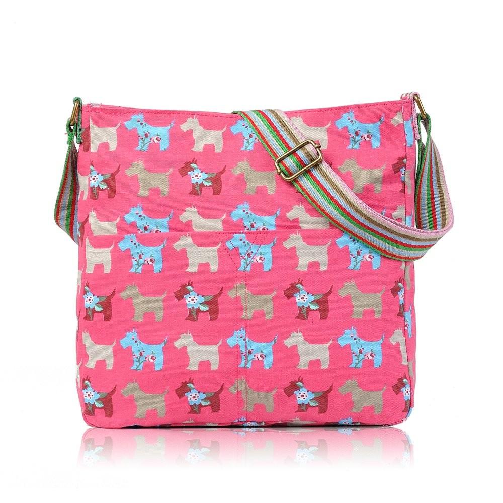 Růžová crossbody kabelka Doggy