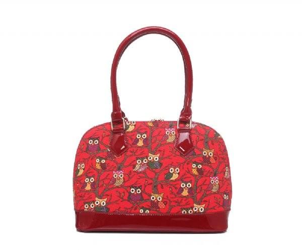Červená sovičková kabelka Lina