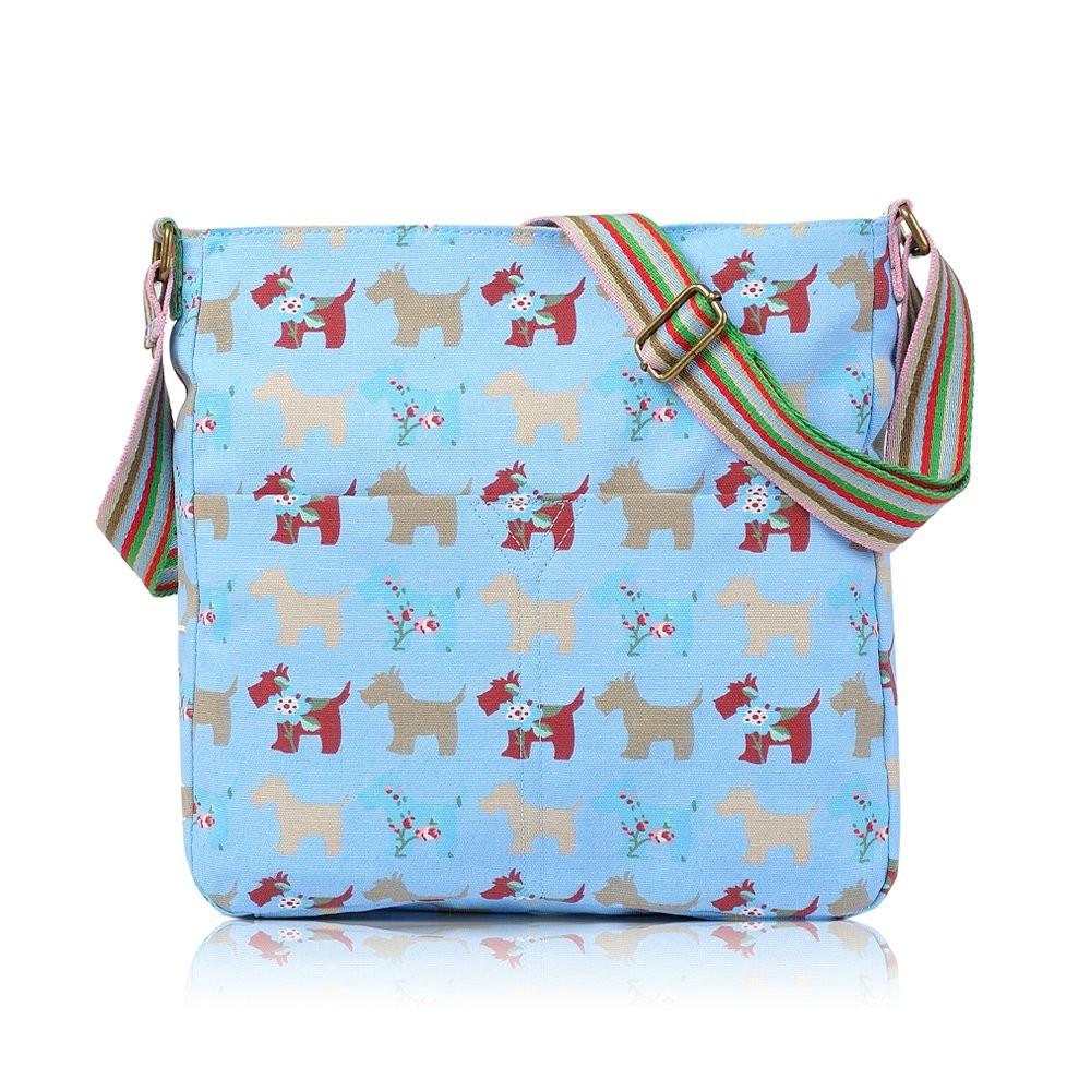 Světle modrá crossbody kabelka Doggy