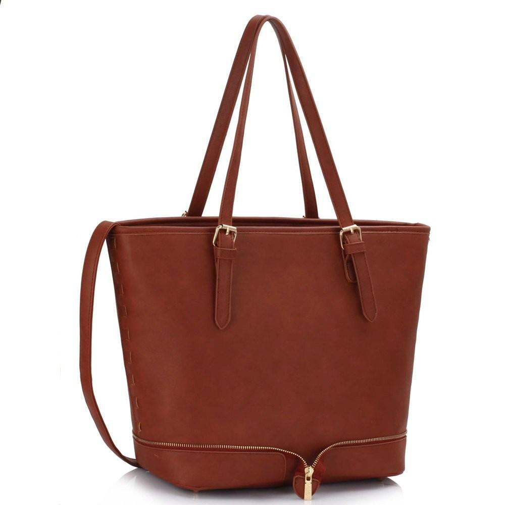 Hnědá stylová kabelka Clara